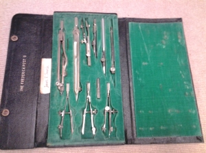 Tools of the trade: drafting tool set of Janet Smith Moebius, donated by Judith Kaiser. Courtesy of the Milwaukee County Historical Society.