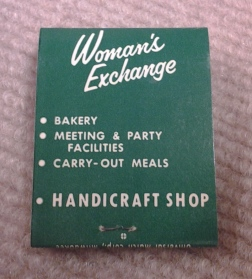 Matchbook from the Milwaukee Woman's Exchange. Courtesy of the Milwaukee County Historical Society.