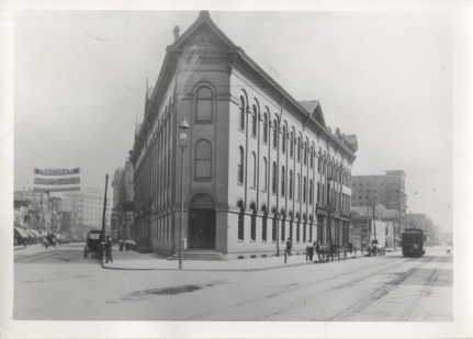 The first Second Ward Savings Bank building.
