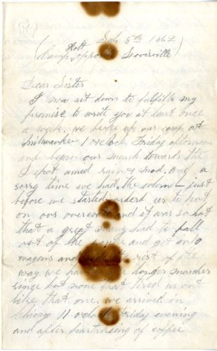 AA letter from Henry W. Mason to his sister